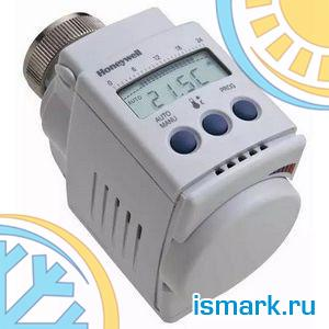 Honeywell HR40 Электронная термоголовка Raumtronik, +8...+28°C, с переходниками к клапанам других производителей